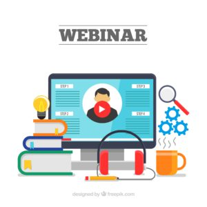 Picture Illustration of a webinar