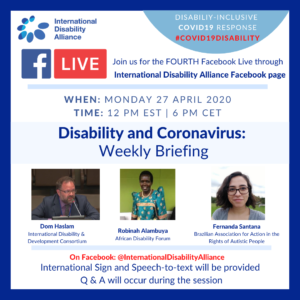 Poster of the Facebook Live - 27 April 2020