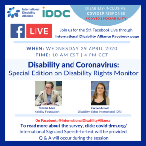 Poster of the Facebook Live - 29 April 2020