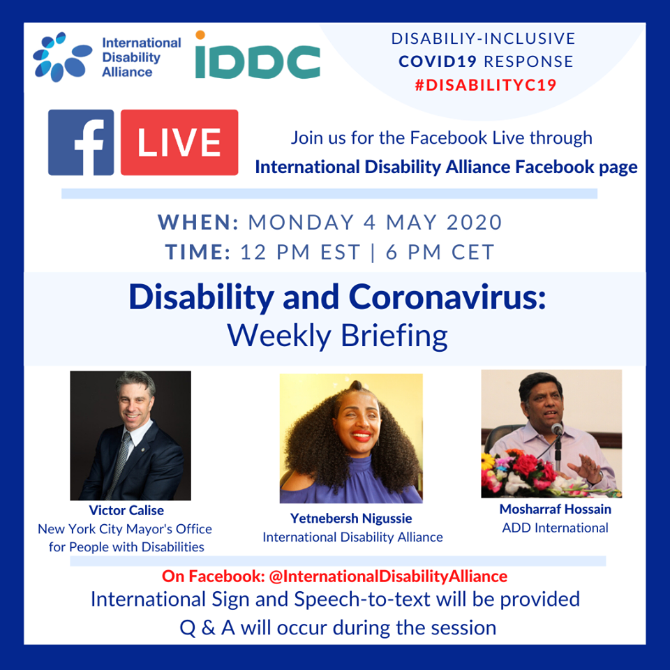 Poster Facebook live 4 May 2020