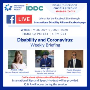 Poster Facebook live 1 June 2020