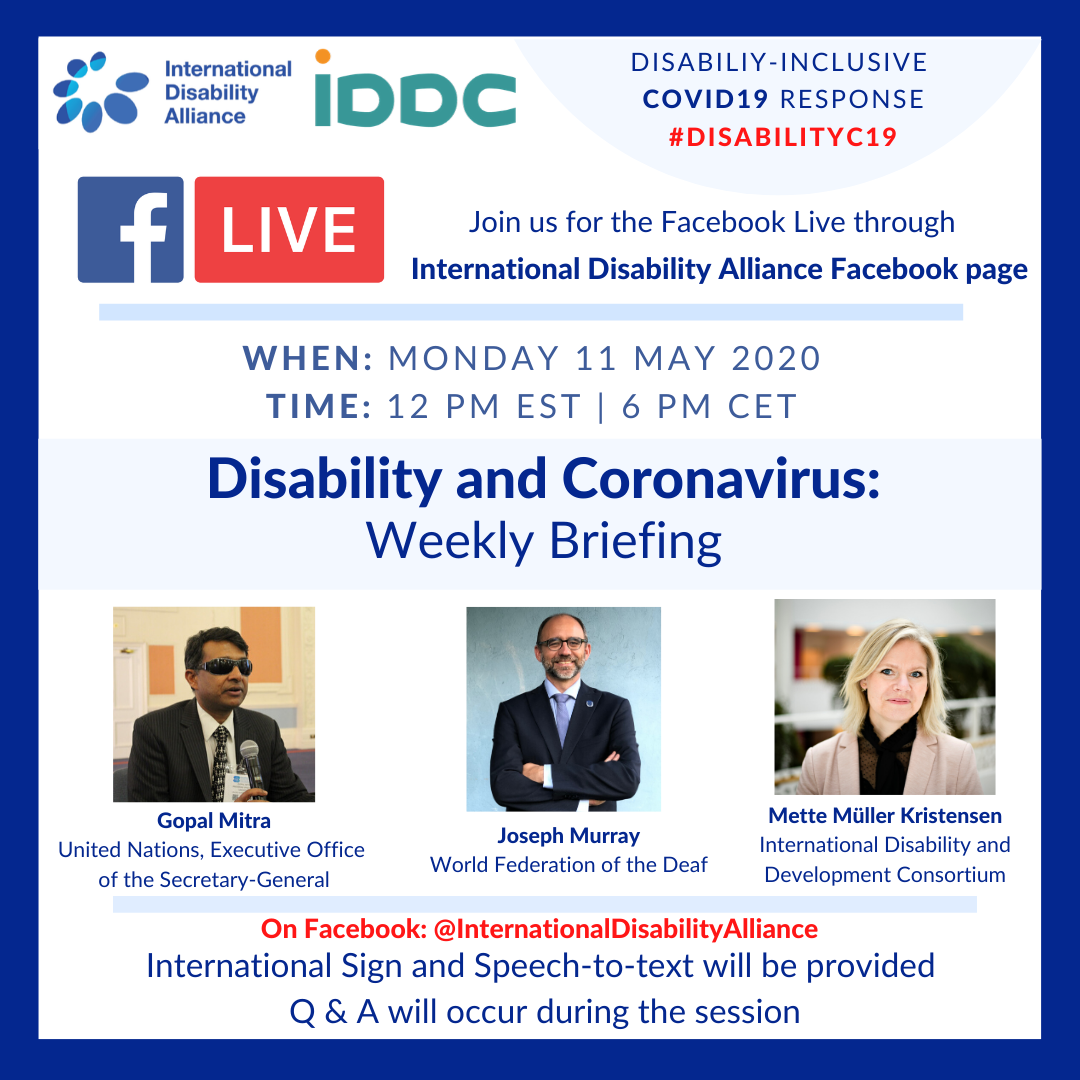 Poster Facebook live 11 May 2020