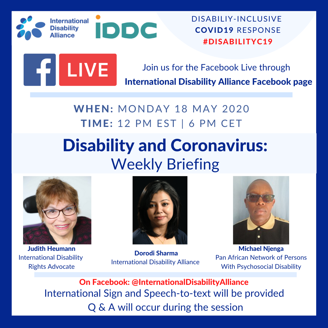 Poster Facebook live 18 May 2020