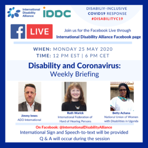 Poster Facebook live 25 May 2020